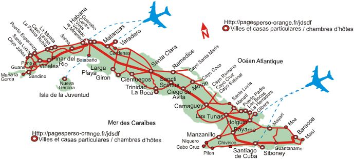 Carte Cuba Cayo Levisa.Cuba Rent At The Inhabitant Of Room Of Guest House